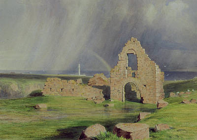 Upper Boddam Castle Print by James Giles