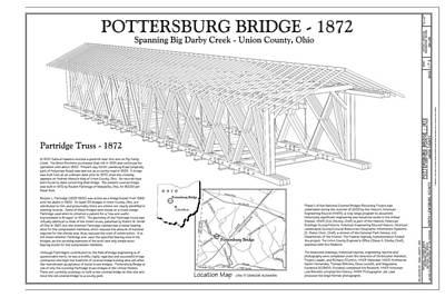 Upper Darby/pottersburg  Covered Bridge Print by Jack R Perry