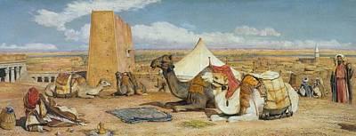 Camel Painting - Upper Egypt by John Frederick