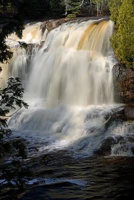 Upper Falls Gooseberry River 2 Print by Larry Ricker