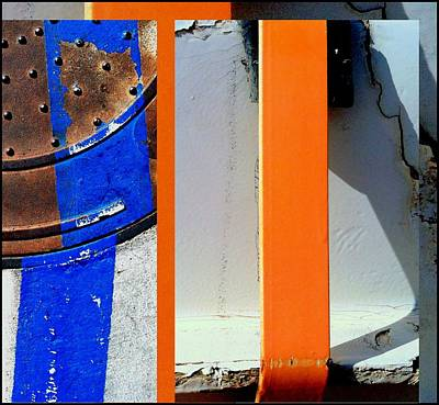 Urban Abstracts Seeing Double 49 Print by Marlene Burns