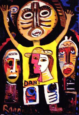 Weusi Art Mixed Media - Urban Ancestors by Robert Daniels