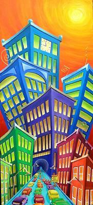 Urban Crawl Print by Eva Folks