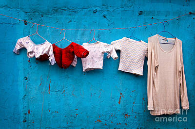 Shanghai China Photograph - Urban Laundry by Delphimages Photo Creations