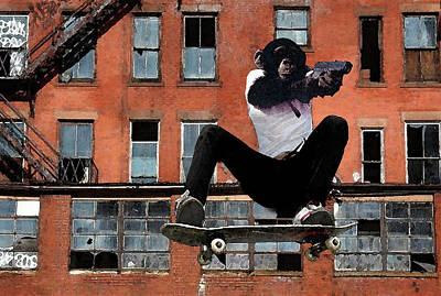 Bluecoat Digital Art - Urban Police by Monday Beam