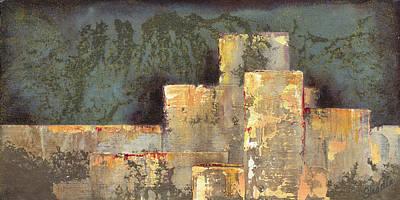 Fiery Painting - Urban Renewal II by Shadia