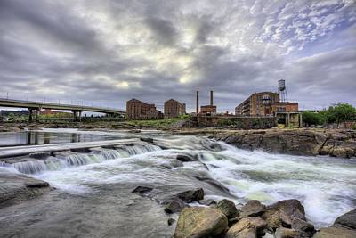 Urban White Water  Print by JC Findley