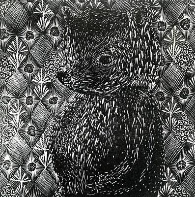 Bear Drawing - Ursus Arctos Ssp Domesticus by Bella Larsson