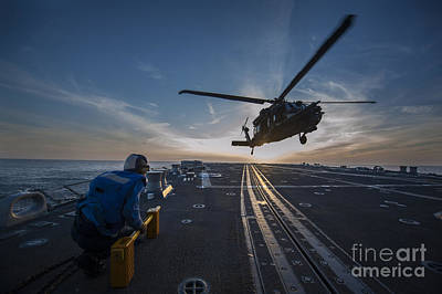 Helicopter Painting - U.s. Army Mh-60 Blackhawk Helicopter by Celestial Images