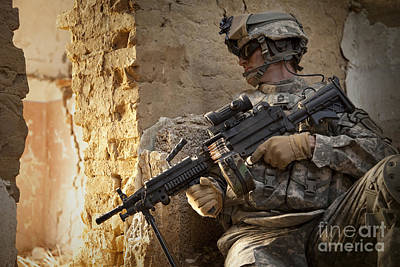 Camouflage Clothing Photograph - U.s. Army Ranger In Afghanistan Combat by Tom Weber