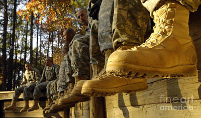 Photograph - U.s. Army Soldiers Prepare For Basic by Stocktrek Images