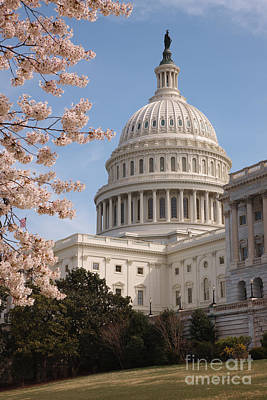 Capitol Building Photograph - Us Capitol Building II by Clarence Holmes
