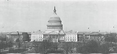 Us Capitol Washington Dc 1916 Print by Panoramic Images