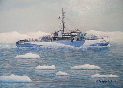 Enforcement Painting - U.s. Coast Guard Cutter Eastwind by William H RaVell III