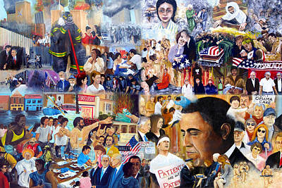 George Bush Painting - Us History The First Ten Years 21st Century by Leonardo Ruggieri