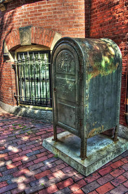 Boston Photograph - U.s. Mail - Beacon Hill - Boston by Joann Vitali