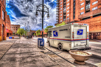 Mail Box Photograph - Us Mail Truck by Spencer McDonald