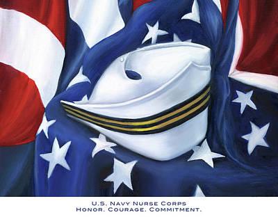U.s. Navy Nurse Corps Print by Marlyn Boyd