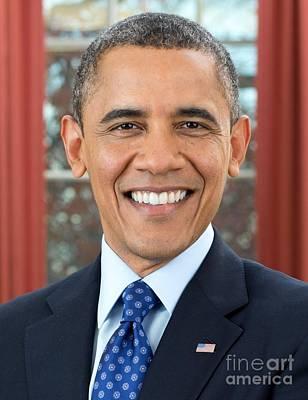 U.s. President Barack Obama  Print by MotionAge Designs