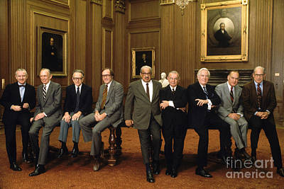 Chief Justice Photograph - Us Supreme Court Justices by Yoichi Okamoto
