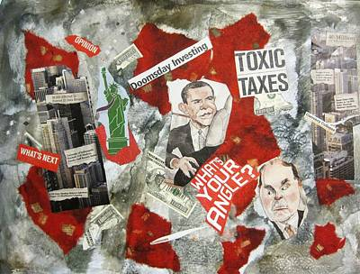 Usa Financial Meltdown Print by David Raderstorf