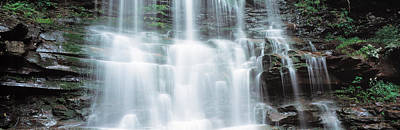 Pa State Parks Photograph - Usa, Pennsylvania, Ganoga Falls by Panoramic Images
