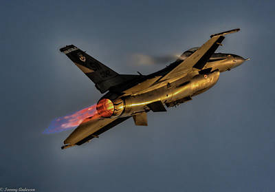 Photograph - Usaf F-16 Sunset Supersonic by Tommy Anderson
