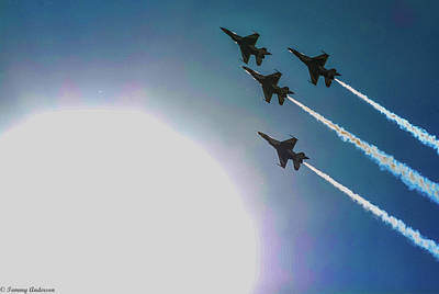 Photograph - Usaf Thunderbirds Flying Past The Sun by Tommy Anderson
