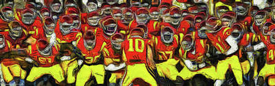 Photograph - Usc Trojan Football by Tommy Anderson