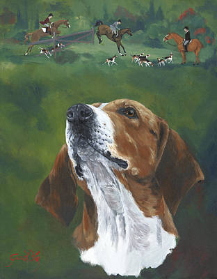 Usher The Hounds Print by Gilda Goodwin