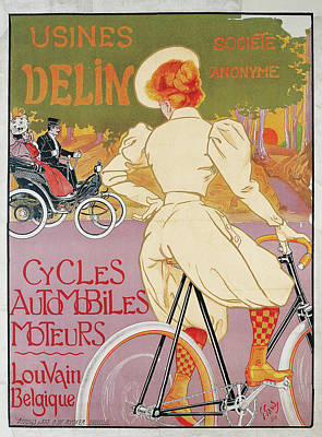 Cycles Painting - Usines Delin by Georges