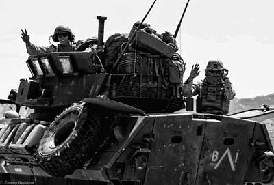 Photograph - Usmc On The Move In A Lav-25 by Tommy Anderson