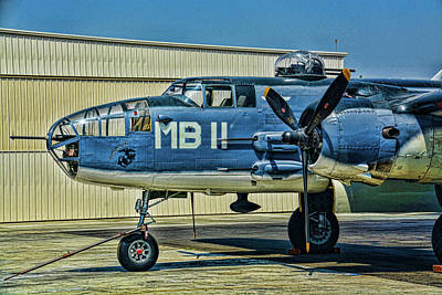 Photograph - Usmc Pbj-ij Mitchell Bomber by Tommy Anderson