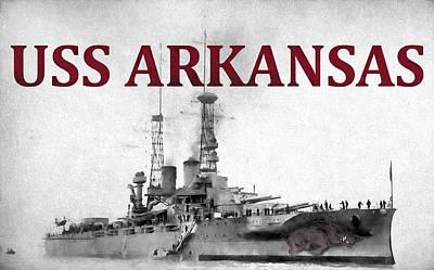 University Of Arkansas Photograph - Uss Arkansas by JC Findley