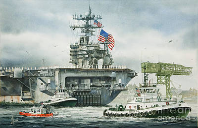 Uss Carl Vinson Print by James Williamson
