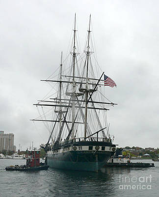 Constellation Painting - Uss Constellation In Baltimore's Inner Harbor by Celestial Images