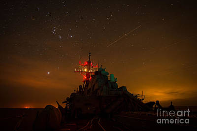 Liberty Painting - Uss Mitscher by Celestial Images