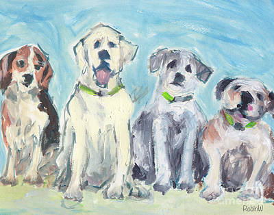 Loose Style Painting - Usual Suspects by Robin Wiesneth