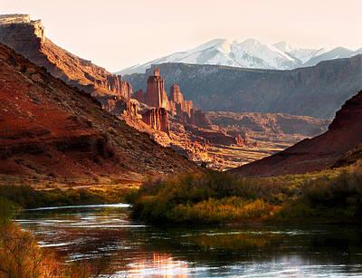 Utah Colorado River Print by Marilyn Hunt
