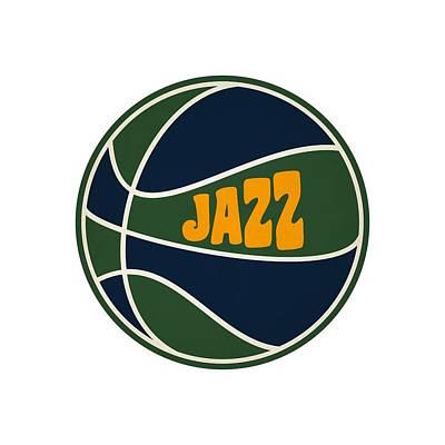 Utah Jazz Retro Shirt Print by Joe Hamilton