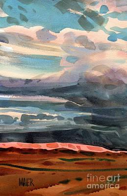 Painted Desert Painting - Utah Skyline by Donald Maier