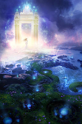 Utherworlds Passage To Hope Print by Philip Straub