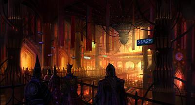 Mixed Media - Utherworlds The Gathering by Philip Straub