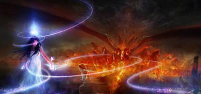 Horror Mixed Media - Utherworlds Waking Dream by Philip Straub