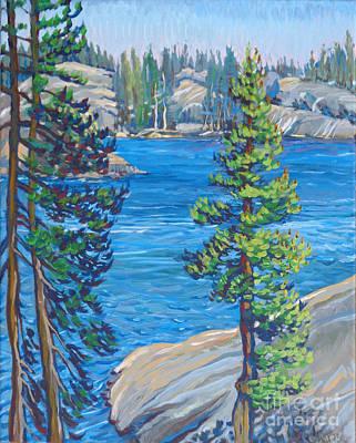 En Route Painting - Utica Lake Point by Vanessa Hadady BFA MA