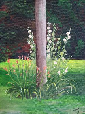 Holly Hocks Painting - Utility Pole #1 by Ann Szeplaki