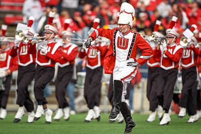 Marching Band Photograph - Uw Drum Major by Todd Klassy