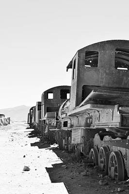 Abandoned Photograph - Uyuni Train Cemetery  by Sandy Taylor