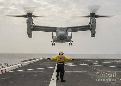 Aggression Painting - V-22 Osprey Helicopter by Celestial Images