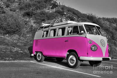 V-dub In Pink  Print by Rob Hawkins